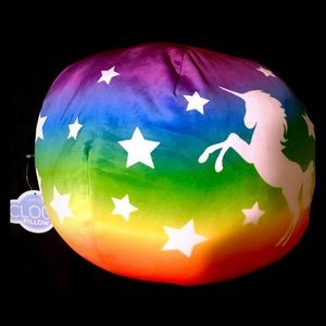Rainbow Unicorn Travel Cloud Pillow